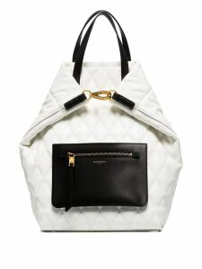 Givenchy pouch-pocket quilted backpack - White