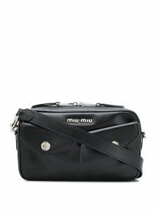 Miu Miu flap-pocket shoulder bag - Black