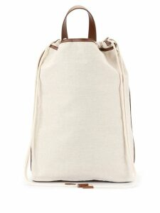 Le 17 Septembre squared canvas backpack - White