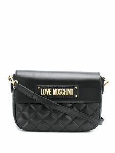 Love Moschino quilted cross body bag - Black