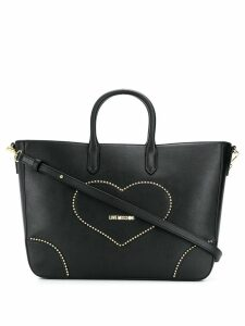 Love Moschino heart patch tote bag - Black