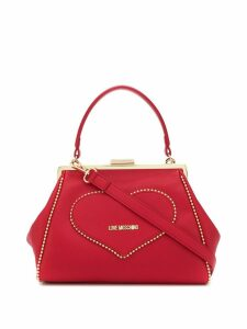 Love Moschino heart patch tote bag - Red