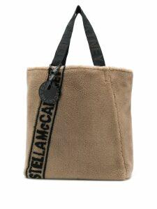 Stella McCartney contrast logo tote bag - Brown