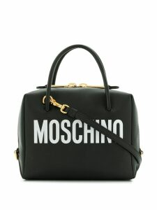 Moschino small logo print crossbody bag - Black