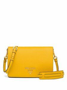Prada logo plaque shoulder bag - Yellow