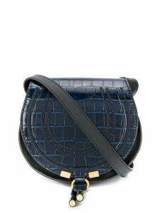Chloé Marcie crocodile-effect shoulder bag - Blue