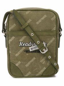 Readymade logo print messenger bag - Green