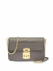 Miu Miu crocodile-effect shoulder bag - Grey