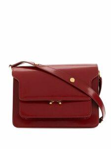 Marni stud detail shoulder bag - Red