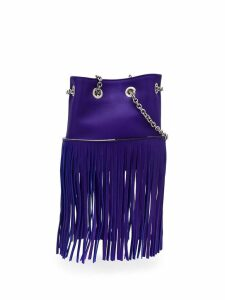 Emilio Pucci Purple Fringed Mini Bonita Bag