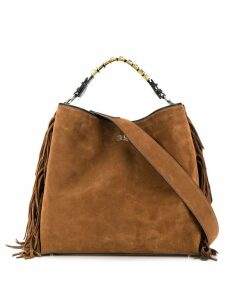 Ermanno Scervino fringed tote bag - Brown