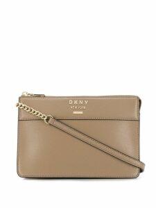 DKNY logo plaque crossbody bag - Neutrals