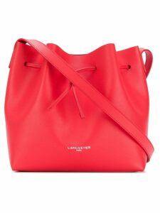 Lancaster logo bucket shoulder bag - Red