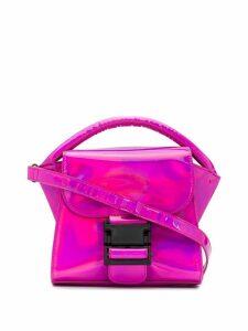 Zucca metallic buckled tote - Pink