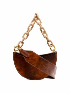 Yuzefi Doris marble-effect shoulder bag - Brown