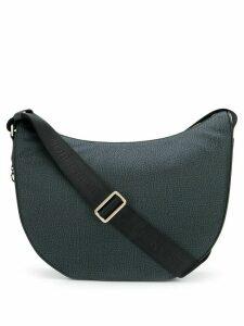 Borbonese animal print shoulder bag - Black