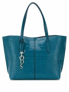 Tod's croc-effect tote - Blue