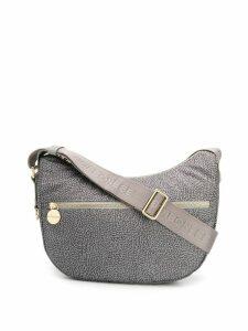 Borbonese printed shoulder bag - Grey