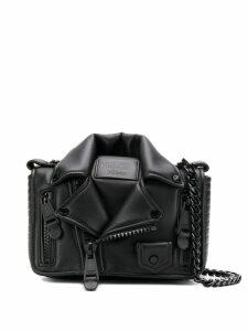 Moschino biker jacket crossbody bag - Black