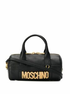 Moschino oversized logo tote bag - Black