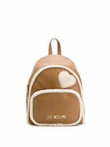 Love Moschino shearling backpack - Brown