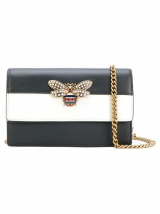 Gucci mini embellished striped bag - Black