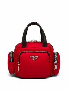 Prada nylon cargo top-handle bag - Red