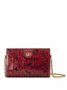 Gucci Snake Skin Small Shoulder Bag - Red