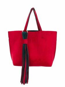 Alila fringed detail tote bag - Red
