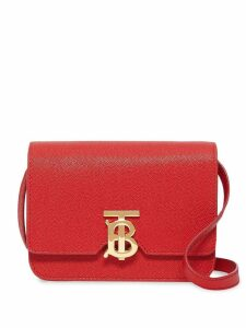 Burberry Mini Grainy Leather TB Bag - Red