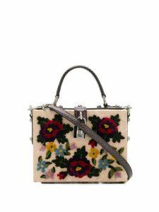 Dolce & Gabbana floral applique box bag - Neutrals