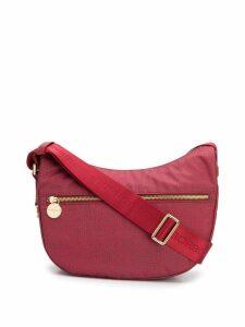 Borbonese printed saddle shoulder bag - Red