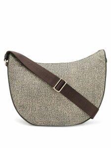 Borbonese printed saddle shoulder bag - Brown