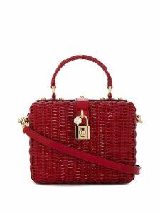 Dolce & Gabbana Portofino raffia mini shoulder bag - Red