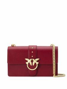 Pinko logo plaque shoulder bag - Red