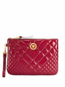 Versace quilted Medusa clutch - Red
