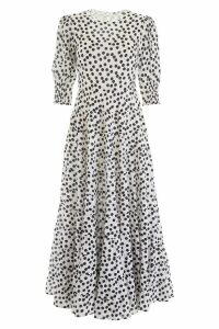 RIXO Long Polka Dots Dress
