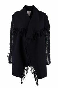 Moncler Wool Cape Coat