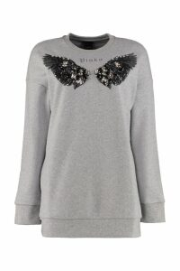 Pinko Labyrinth Embroidered Cotton Sweatshirt