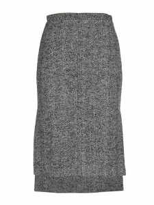 N.21 Grey Tweed Pencil Skirt