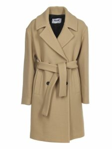MSGM Camel Coat With Belt