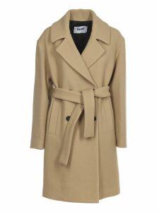 MSGM Camel Coat With Belt