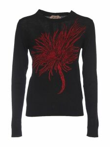 N.21 Anemone Intarsia Knitted Sweater