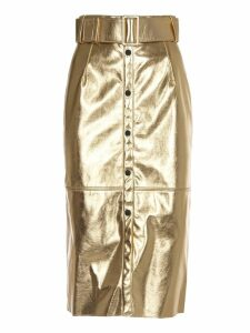 MSGM Gold Pencil Skirt
