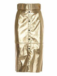 MSGM Gold Pencil Skirt