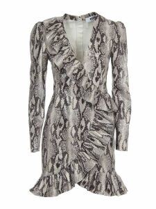 MSGM Dress With Long Sleeves And Python Print