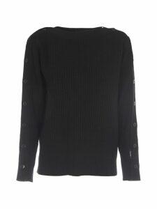 Calvin Klein Black Wool Sweater