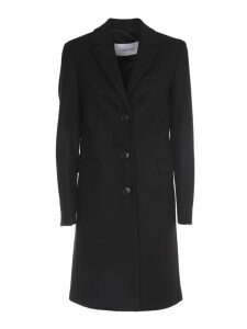 Calvin Klein Black Single-breasted Coat