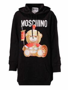 Moschino Bear Logo Print Hoodie Dress