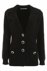 Alessandra Rich Cardigan With Embellished Buttons